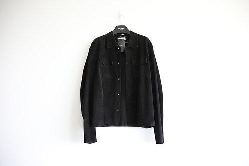 Saint Laurent Black Bandage Suede Jacket