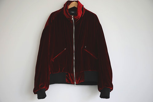 Amiri Red Velvet Jacket