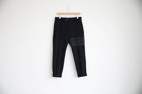 Thom Browne 4-Bar Wool Cropped Pants