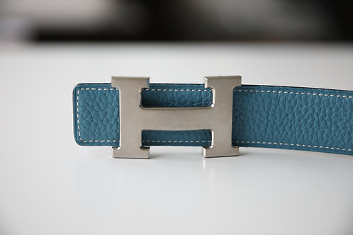 Hermes Men's Silver Buckle Belt