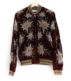Saint Laurent Embellished Velvet Jacket
