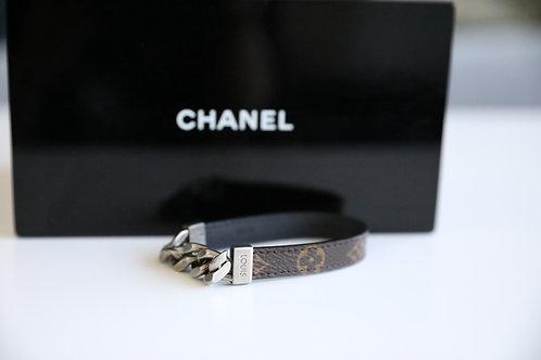 Louis Vuitton Men's Monogram Leather Bracelet