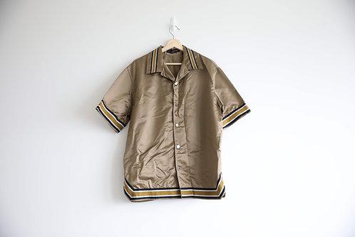 Louis Vuitton Logo Satin Button-Up Shirt