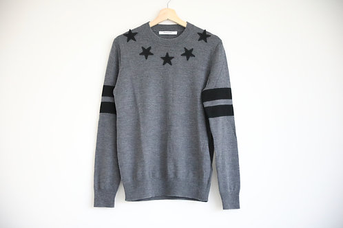 Givenchy Grey Star Wool Sweater