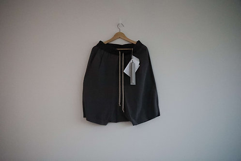 Rick Owens Grey Silk Shorts