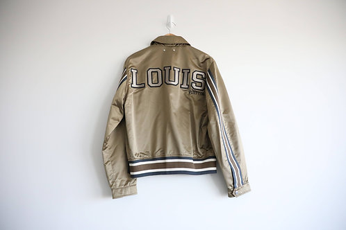 Louis Vuitton Python Leather Trimmed Silk Jacket