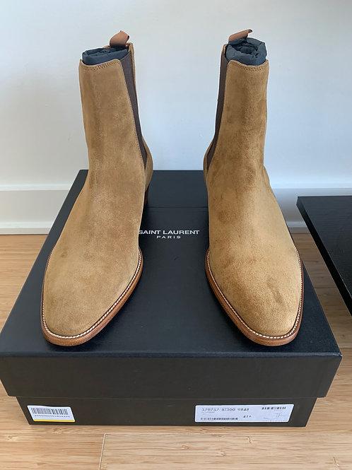 Saint Laurent Suede Chelsea Boots 40mm