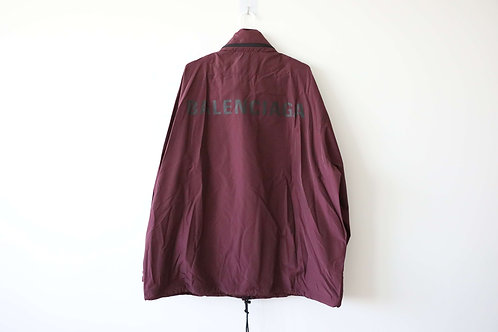 Balenciaga Bordeaux Logo Raincoat
