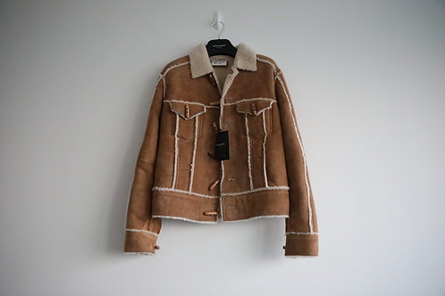 Saint Laurent Suede Shearling Toggle Jacket