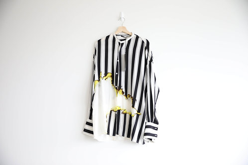 Haider Ackermann Silk Flame Striped Shirt
