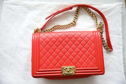 Chanel Lambskin Large Boy Handbag