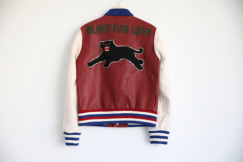 Gucci Blind for Love Embroidered Leather Jacket