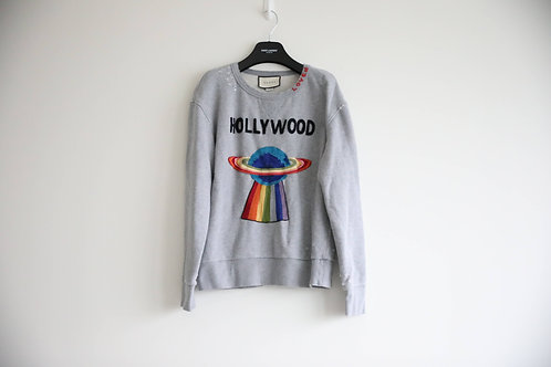 Gucci Distressed Embroidered Sweatshirt