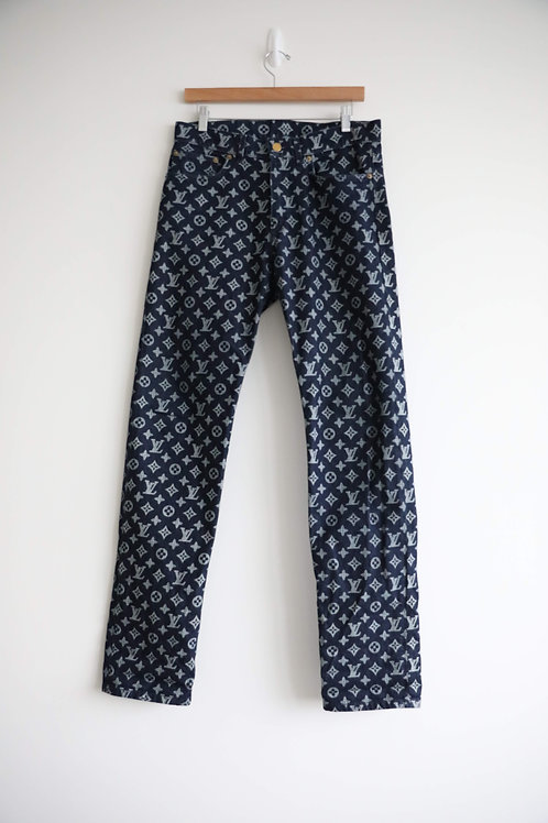 Louis Vuitton Dark Blue Monogram Jeans