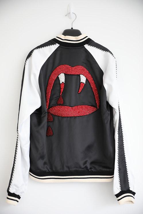 Saint Laurent Paris Blood Lust Teddy Jacket