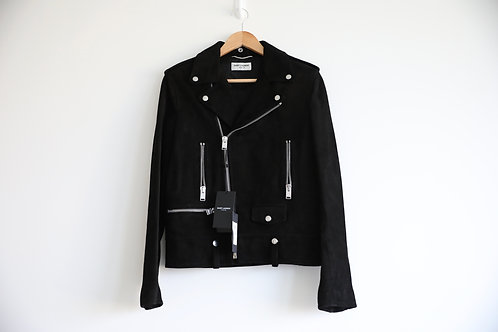 Saint Laurent Black Suede L01 Leather Jacket