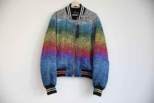 Amiri Leopard Silk Cashmere Jacket