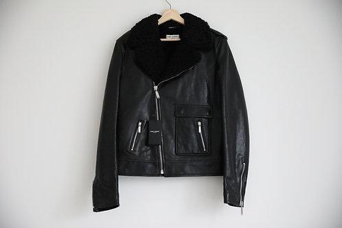 Saint Laurent Paris Shearling Inner Leather Jacket
