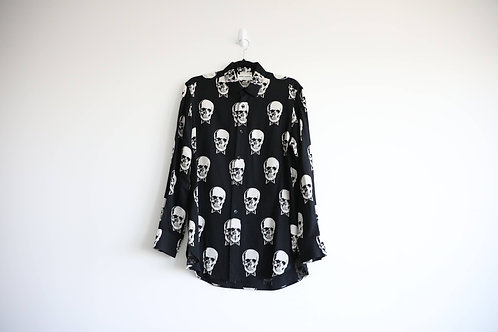 Saint Laurent Skull Button Up Shirt