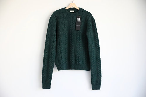 Saint Laurent Paris Green Wool Sweater