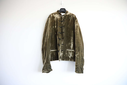 Haider Ackermann 16FW Velvet Button Up Shirt Jacket