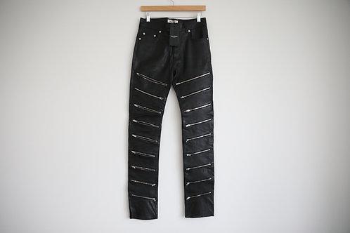 Saint Laurent Paris D02 Lamb Zipped Jeans