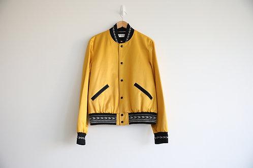 Saint Laurent Gold Silk Teddy Jacket