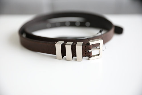 Saint Laurent Paris Tri-Passant Leather Belt