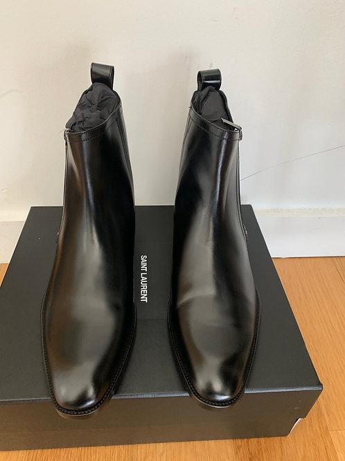 Saint Laurent Paris Zipped Leather Boots