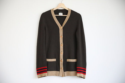 Chanel 09A Oversized Gold Star Button Cashmere Cardigan