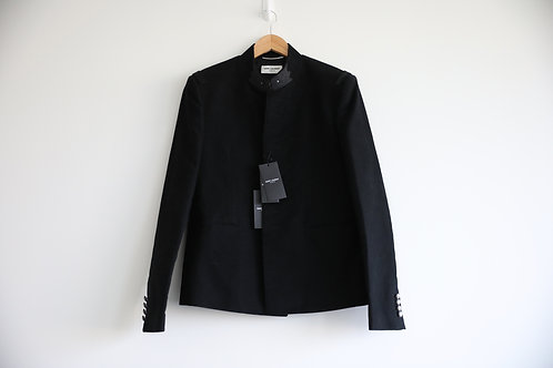 Saint Laurent Cotton&Wool Blended Button Jacket