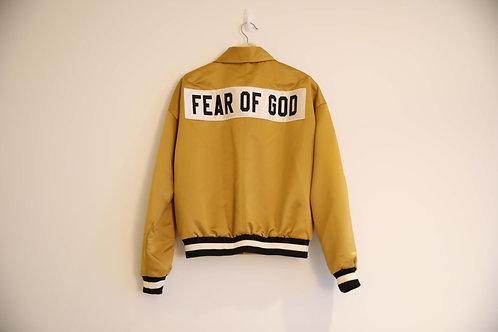 Fear of God Gold Silk Logo Bomber Jacket