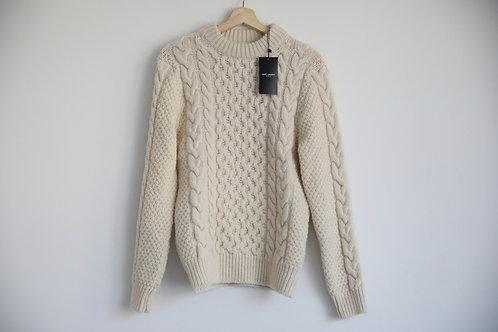 Saint Laurent Paris Ivory Wool Sweater