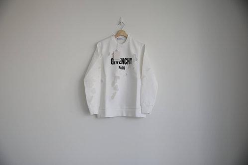Givenchy White Distressed Logo Sweatshirt