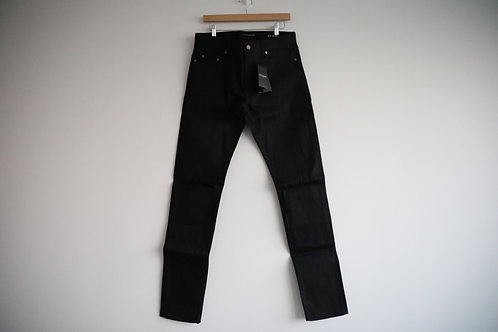 Saint Laurent Black D02 Knee Cut Slim Jeans