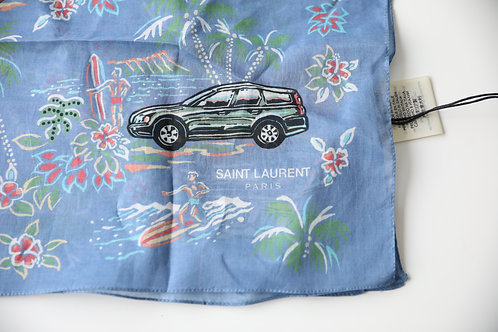 Saint Laurent Paris Palm Tree and Car Print