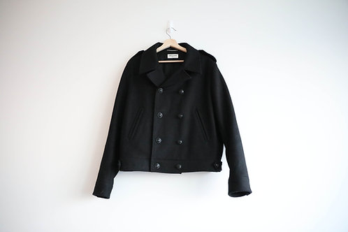 Saint Laurent Black Double Breasted Wool Jacket