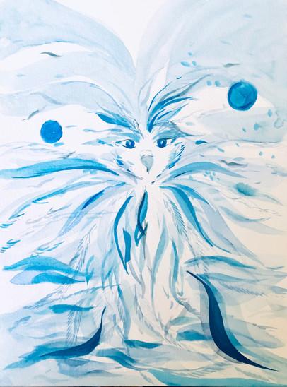 Blue Avian Being
