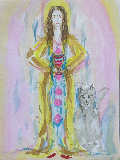 Mary Magdalene with Wolf