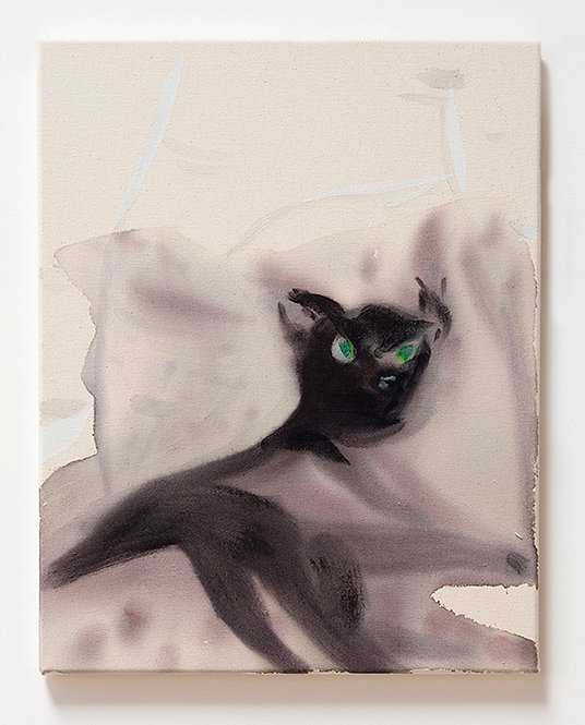 Black Cat with Green Eyes, 2015