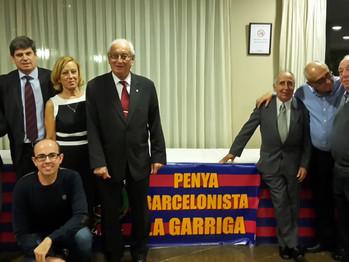 """MARCOS JOVER asiste a una """"Trobada de la Peña Barcelonista"""" de La Garriga."""