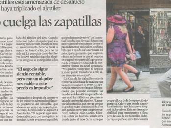 Euroforo en La Vanguardia: Defensa de tienda emblemática (Barcelona)