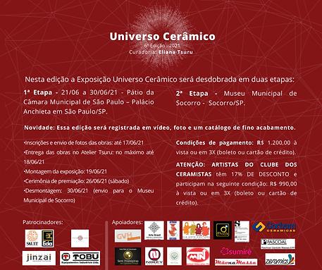 Convite aos artistas - VI Universo Cerâm