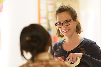 Teacher listening