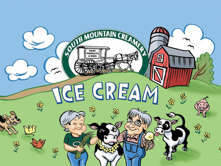 Feeding Baby Cows & Eating Ice Cream at South Mountain Creamery