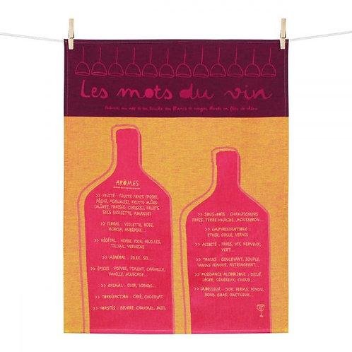 Torchon Mots du vin