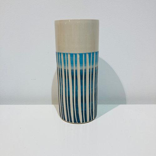 Vase Tube L en grès & porcelaine