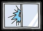 窓がらガラスを割って侵入された窓