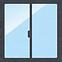 窓フィルムを貼る窓ガラス