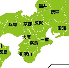 貼はり屋の対応地域全域の地図